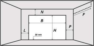 Minimalne wymiary zabudowy bramy BT ISO40G 175 - rysunek